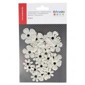 Flores de papel, newsprint 40mm, 27 pz