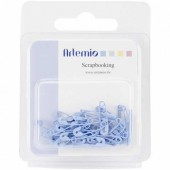Imperdibles azul, 2cm, 36 pz