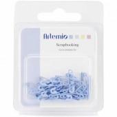 Safety pins, 2cm, blue, 36 pcs