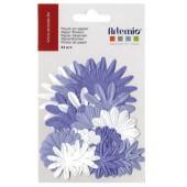Flores de papel, lila, 24 pz