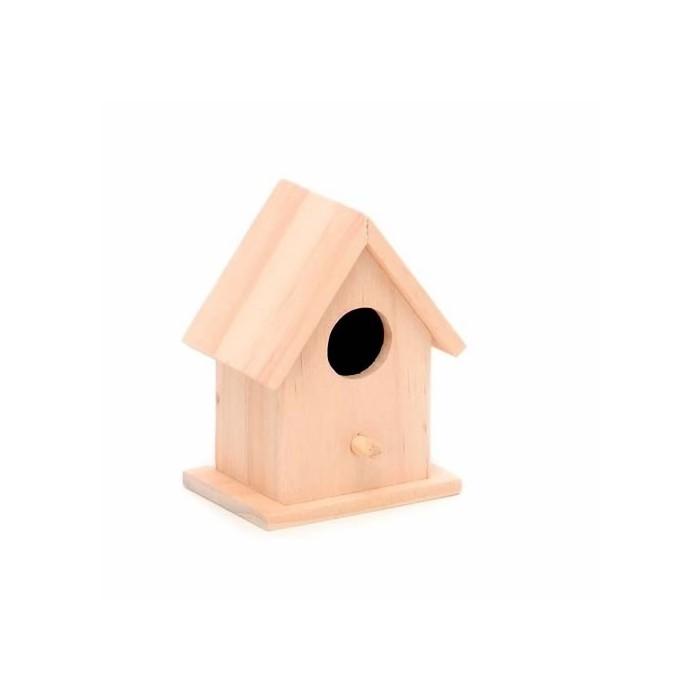 Wooden bird house 7.5x5.5x10cm