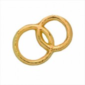 Decorative Wax Wedding rings, gold, 3x2cm
