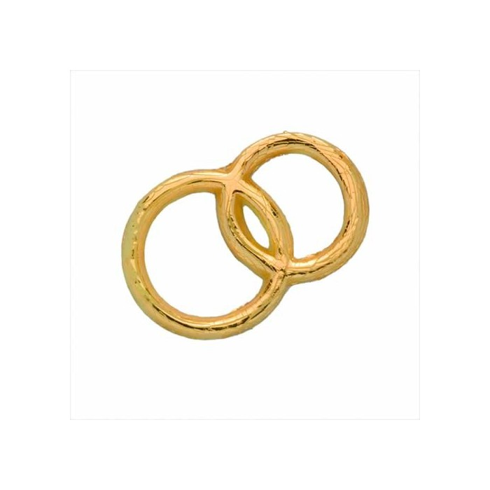 Decorative Wax Wedding rings, gold, 3x2cm