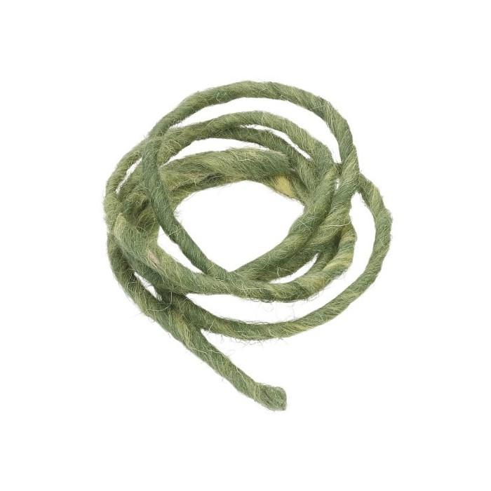 Cordon en laine 2m vert foncé