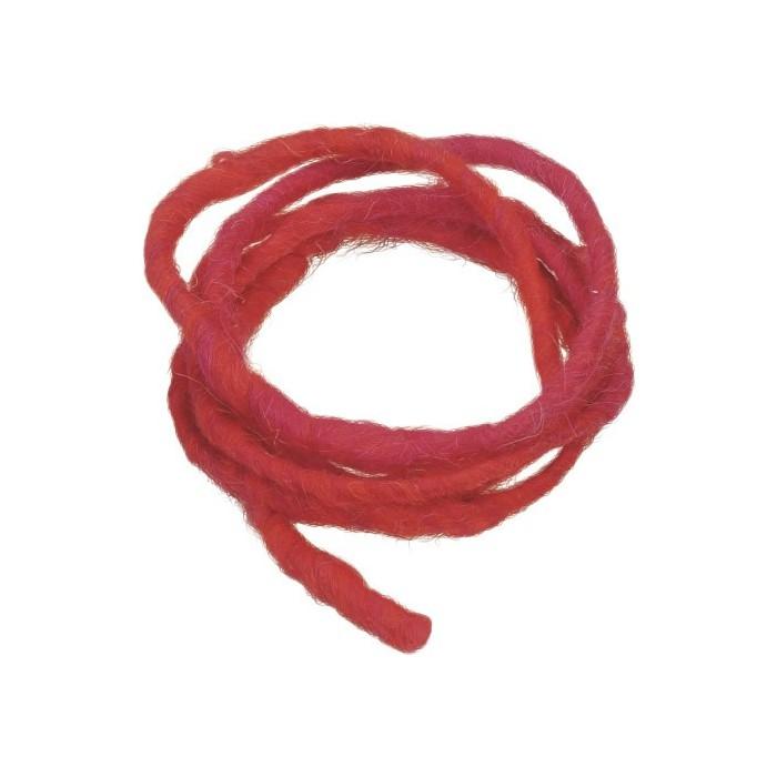 Cordon en laine 2m rouge
