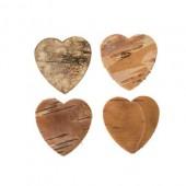 Coeurs en écorce, 3cm, 20 pcs