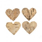 Bark Hearts, 4cm, 18 pcs