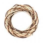 Corona de mimbre natural/marron Ø25cm