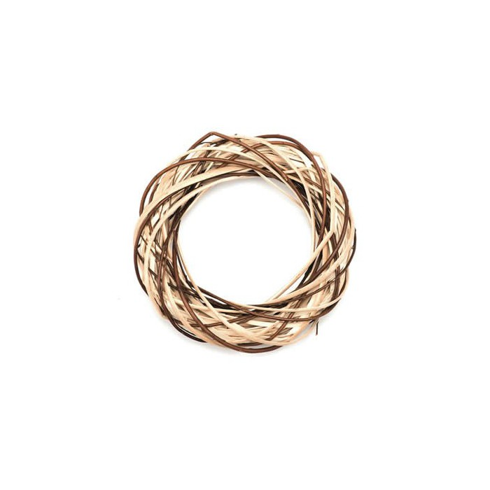 Wicker wreath, natural/brown, Ø25cm