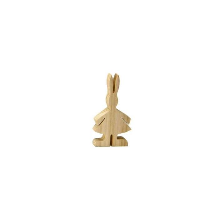"Wooden rabbit ""girl"", 12cm"