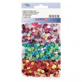 Mix de paillettes rondes, 1500 pcs