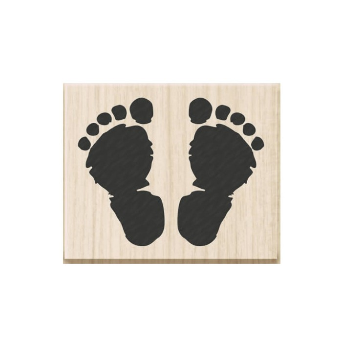Rubberstamp baby feet