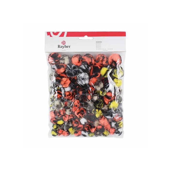 Animal Pompons mix, 100 pcs