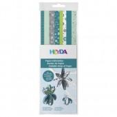 Bandes de papier pour Quilling - mix motifs turquoise/menthe