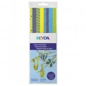 Tiras de papel mix amarillo/azul