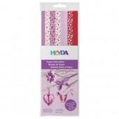 Bandes de papier pour Quilling - mix motifs rose/rouge