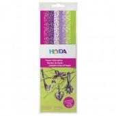 Papier Streifen violett/grün mix