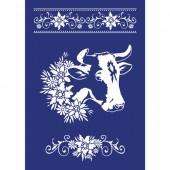 Stencil Cow A4