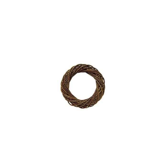 Wicker wreath, dark brown Ø7cm