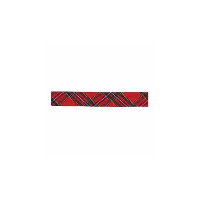 Biais écossais rouge, 18mm/1m