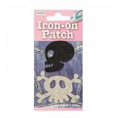 Iron-on motif Skull Ø5cm