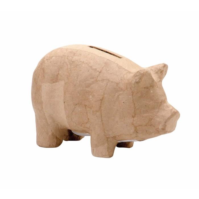 Tirelire cochon en carton 16.5x8x10cm