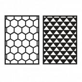Haftschablone Graphic I, 2 Designs, A5