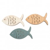 Wooden fishes, 12 pcs