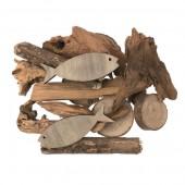 Pez y madera flotante