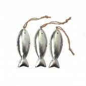 Metal fishes, 3 pcs