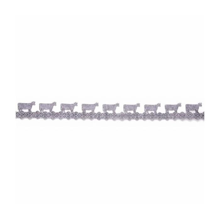 Ruban en feutre vaches, gris