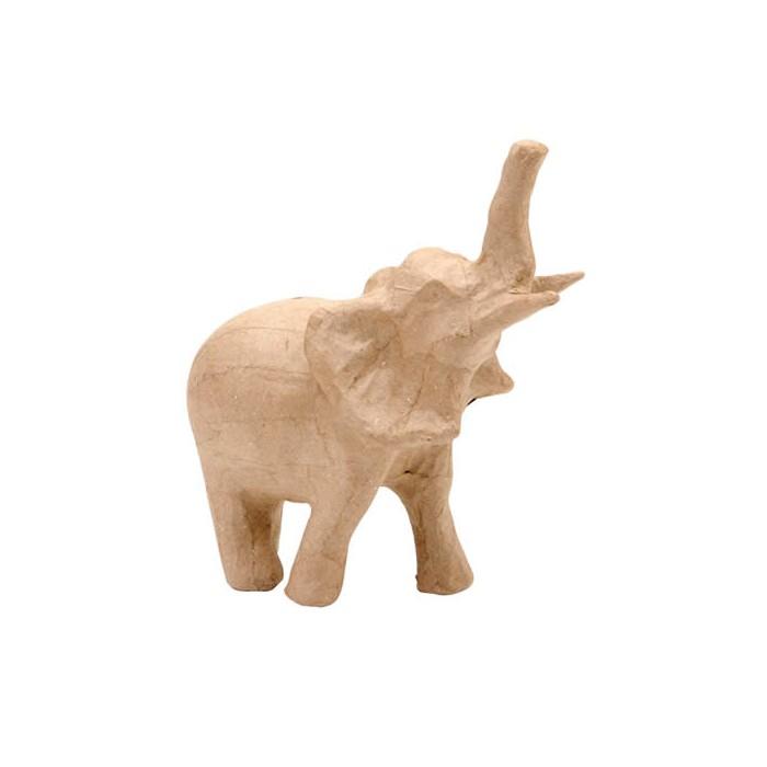 Eléphant en carton 15x6.5x15cm