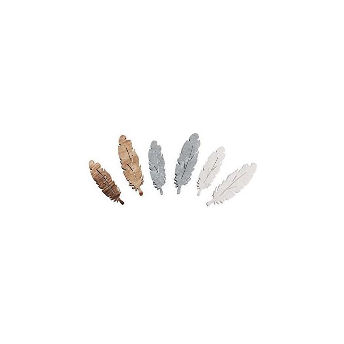 Plumes en bois+/- 3cm, 15 pcs