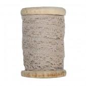 Spitze mit Holzspule, 2cm/3m, hellbraun