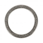 Metallic flat Ring silver, Ø37mm, 1 pce