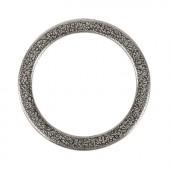 Metallring flach silber, Ø37mm, 1 Stk