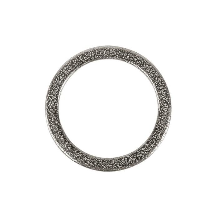 Anneau plat en métal couleur argent, Ø37mm, 1 pce