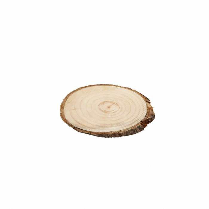 Wooden discs +/- 7.5x4.5cm, 4 pcs