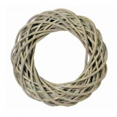 Wicker wreath, grey/green Ø25cm
