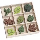 Ornements en feutrine feuilles