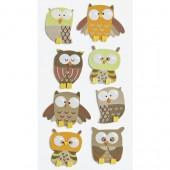 Heyda stickers owl, 8 pcs