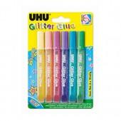 UHU - Colle pailletée 6 couleurs