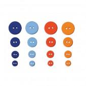 Artemio - Boutons Graphic Time, 36 pces, 9 à 20mm