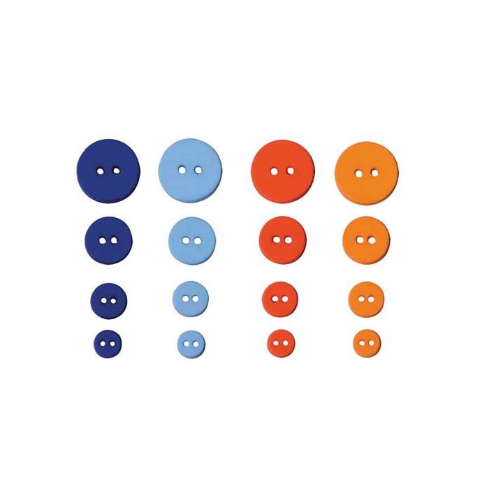 Artemio - Graphic Time Buttons, 36 pcs, 9-20mm