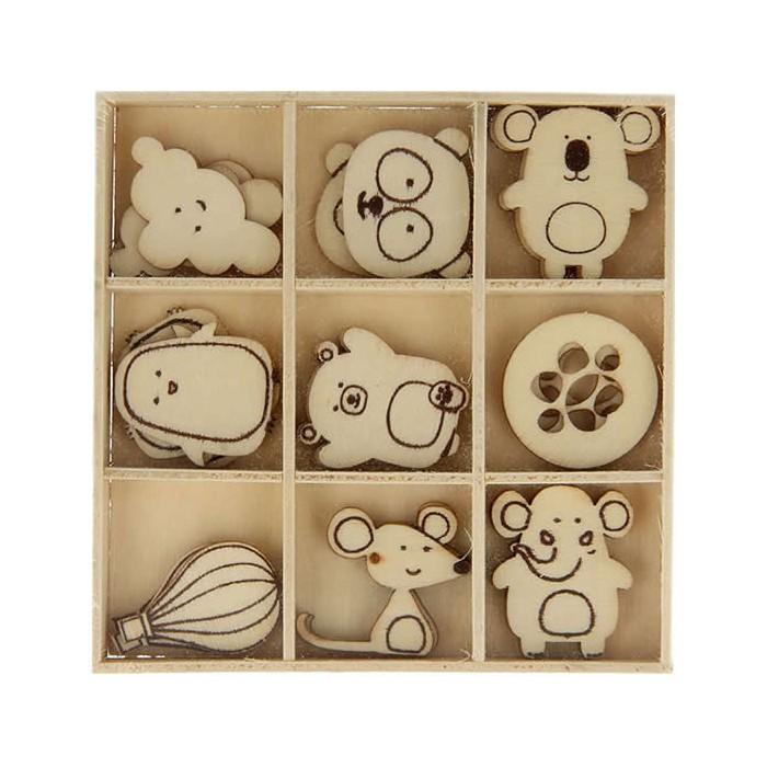 Elements déco en bois : Adorable