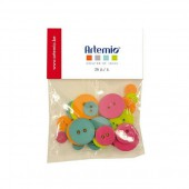 Artemio - Freedom Buttons, 36 pcs, 9-20mm