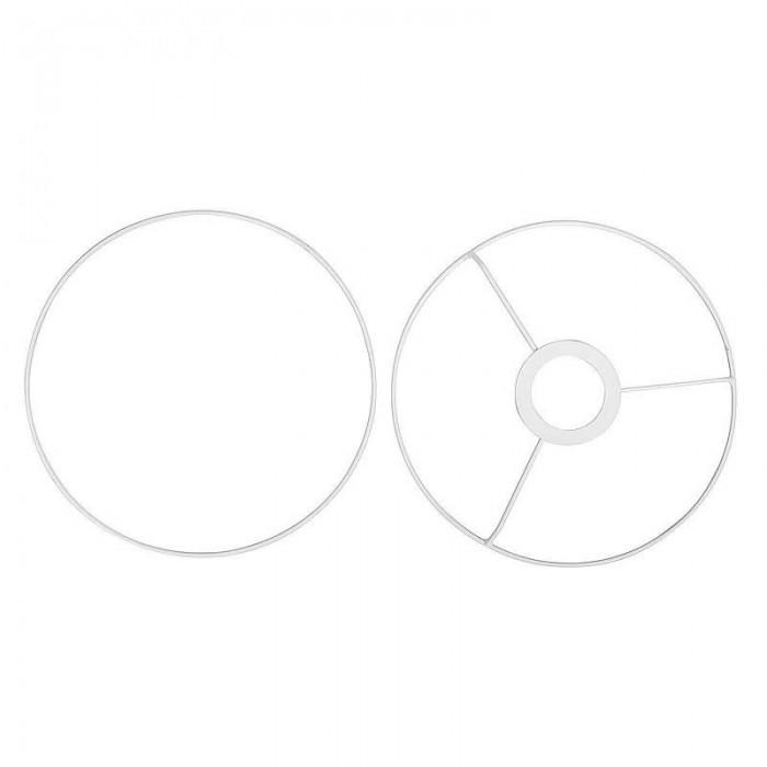 Kit cercles pour abat-jour en métal, blanc, Ø20cm
