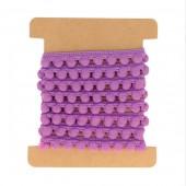 Cinta pompom, violeta, 1m
