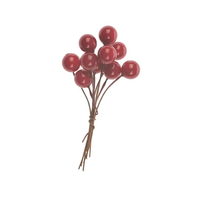 Bunch of berries, red, 2 pcs