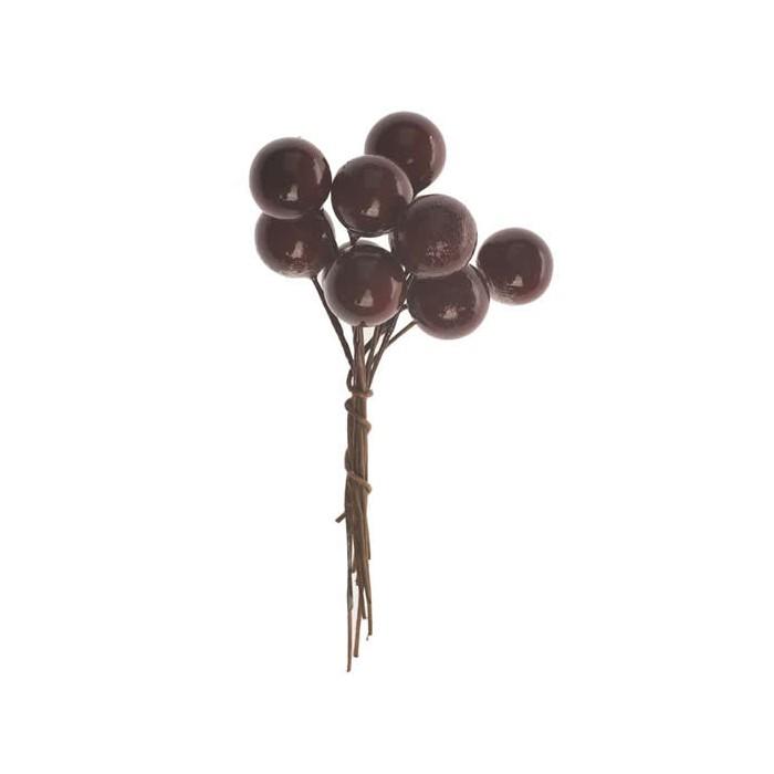 Bunch of berries, dark red, 2 pcs